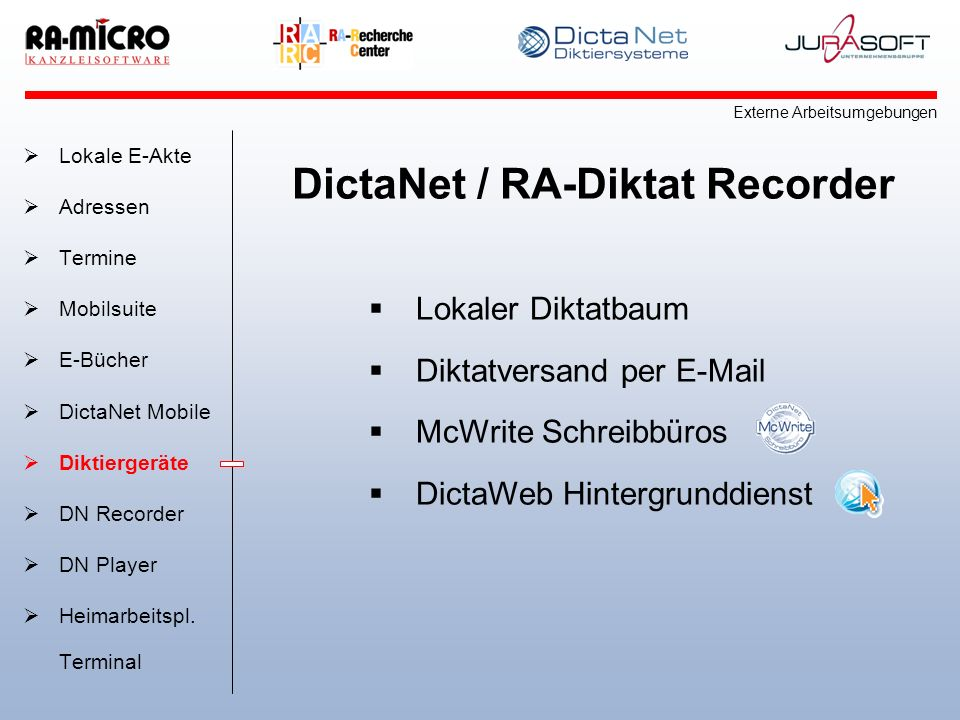 DictaNet / RA-Diktat Recorder
