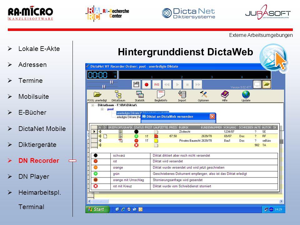 Hintergrunddienst DictaWeb