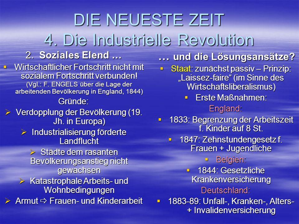DIE NEUESTE ZEIT 4. Die Industrielle Revolution