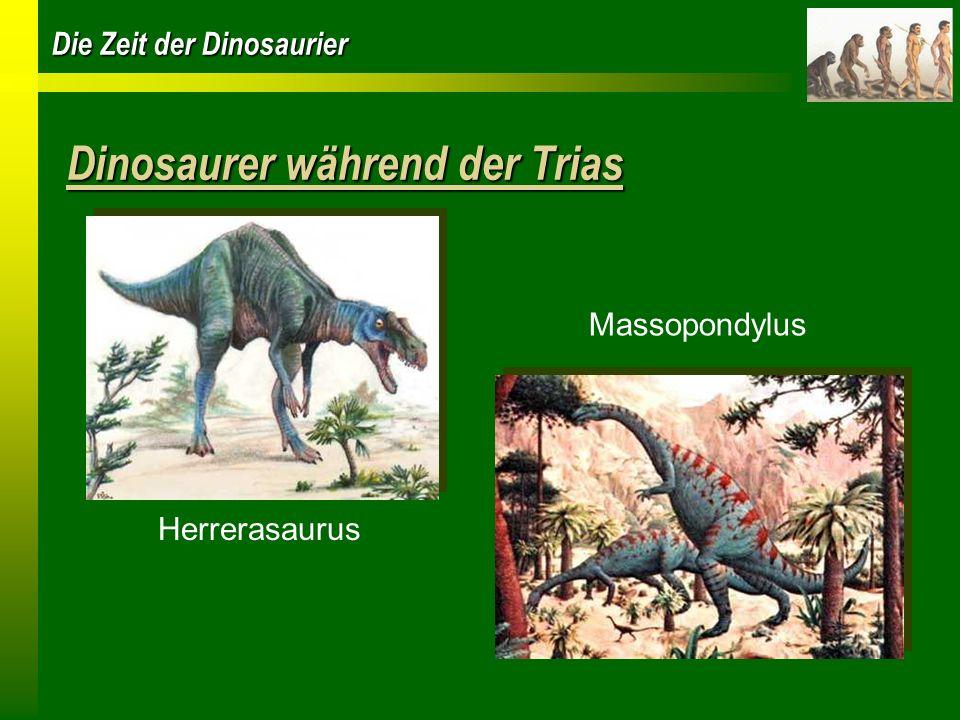 Dinosaurer während der Trias