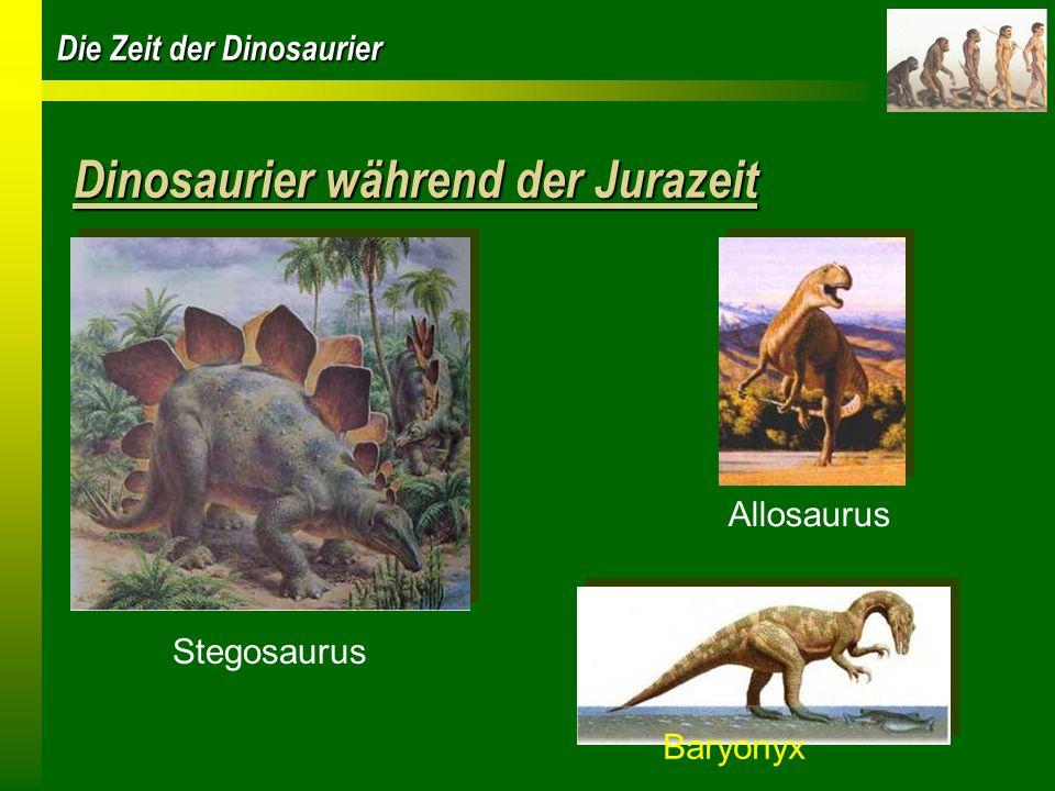 Dinosaurier während der Jurazeit
