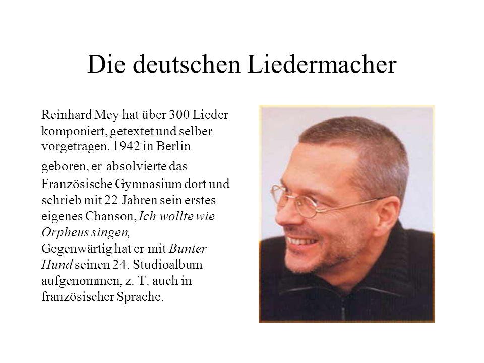 Die deutschen Liedermacher