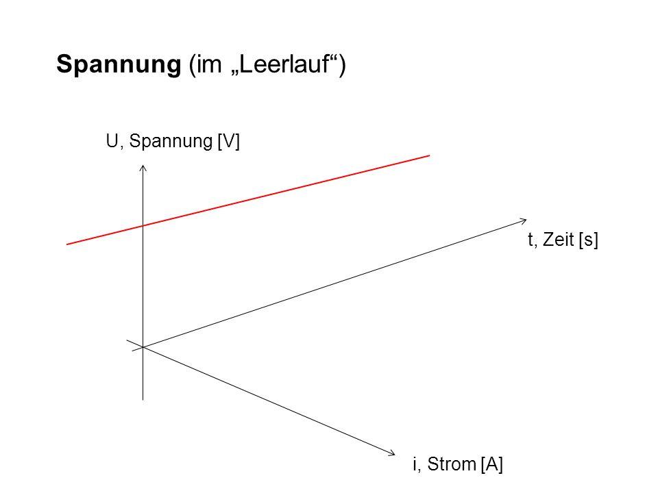 """Spannung (im """"Leerlauf )"""