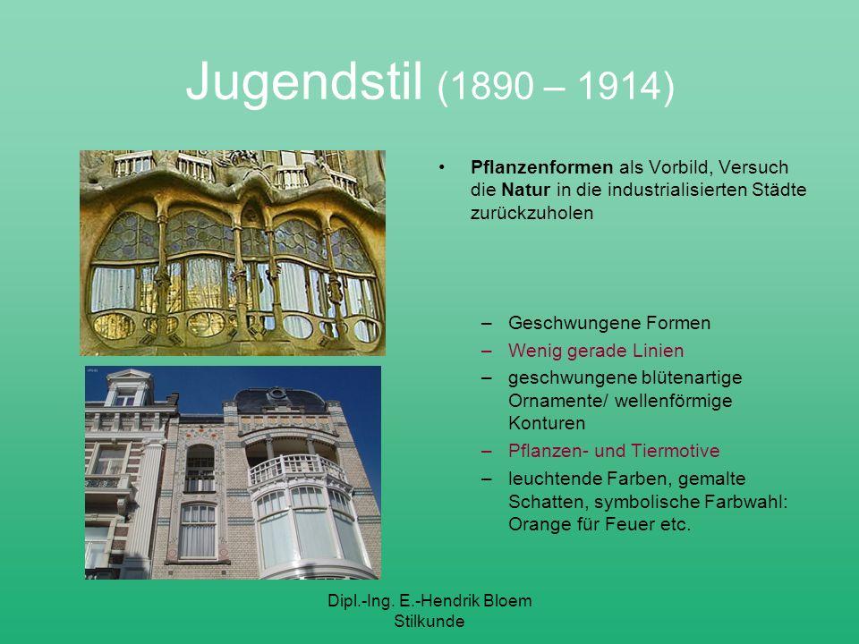 Dipl.-Ing. E.-Hendrik Bloem Stilkunde