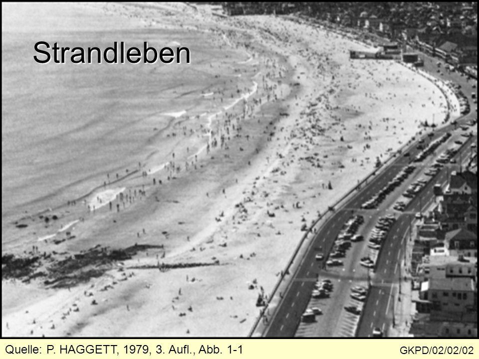 Strandleben Quelle: P. HAGGETT, 1979, 3. Aufl., Abb. 1-1 GKPD/02/02/02