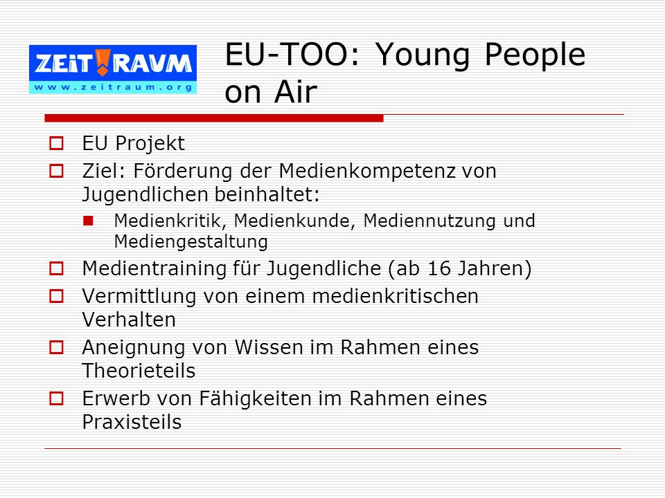 EU-TOO: Young People on Air