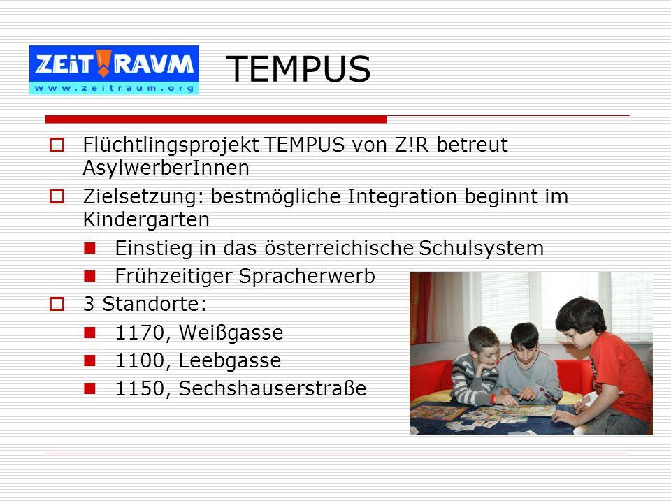 TEMPUS Flüchtlingsprojekt TEMPUS von Z!R betreut AsylwerberInnen