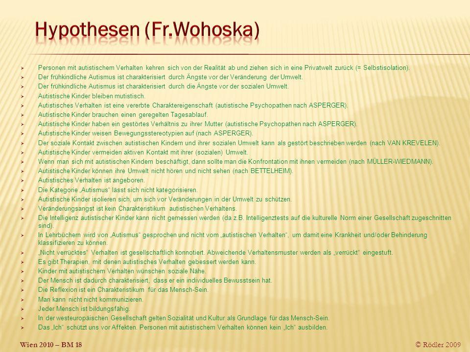 Hypothesen (Fr.Wohoska)