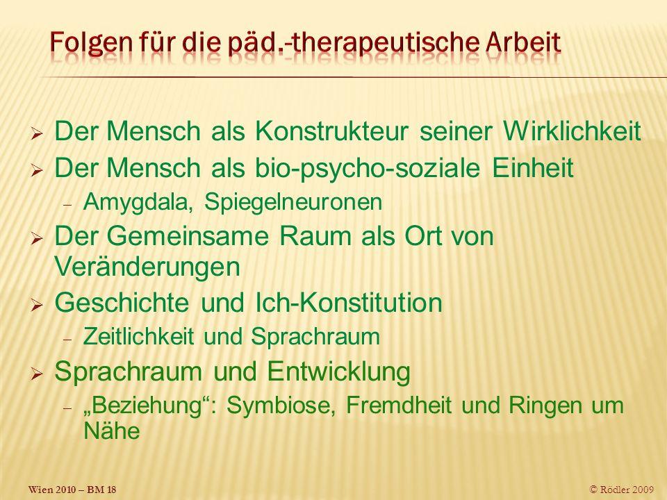 Folgen für die päd.-therapeutische Arbeit