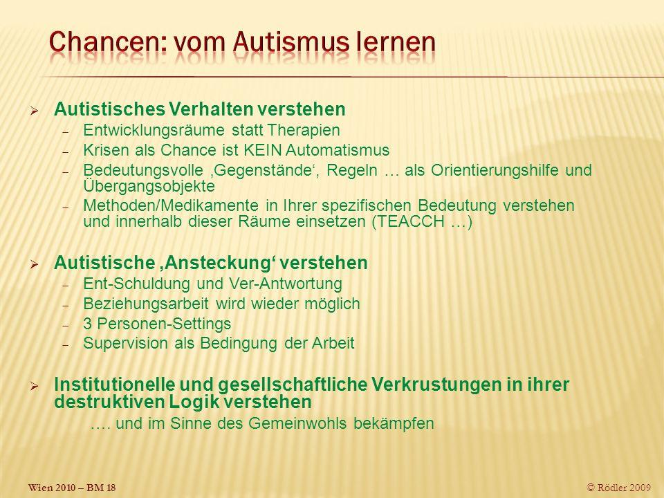 Chancen: vom Autismus lernen