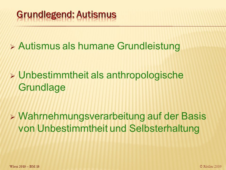 Grundlegend: Autismus