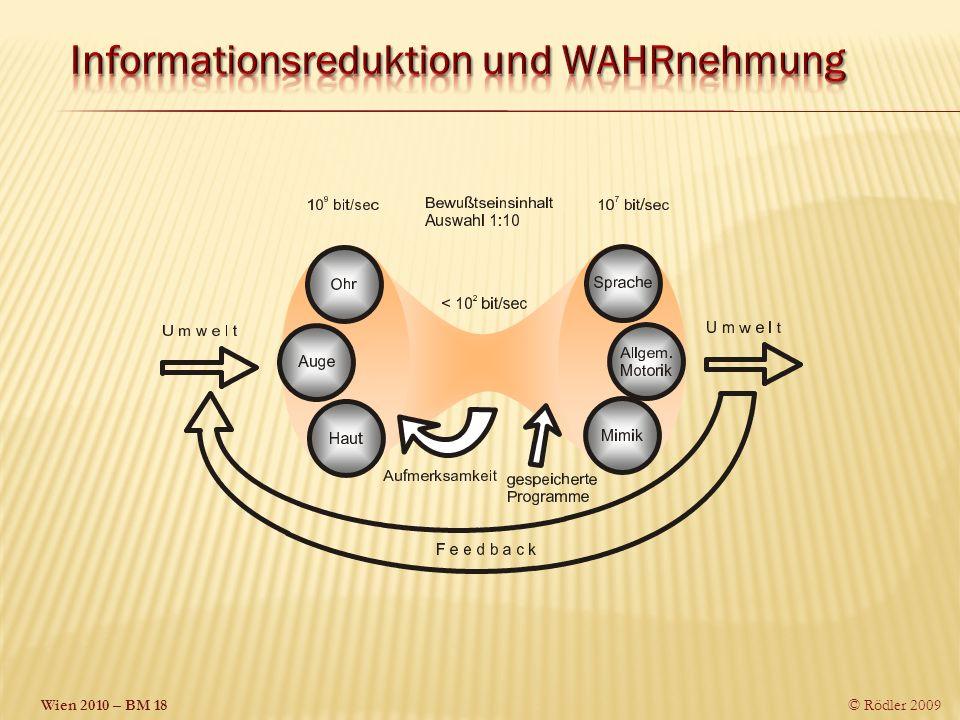 Informationsreduktion und WAHRnehmung