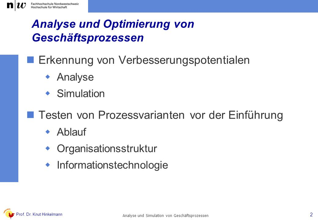 Analyse und Optimierung von Geschäftsprozessen