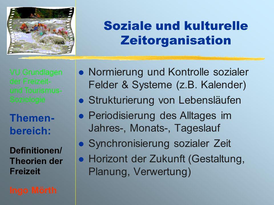 Soziale und kulturelle Zeitorganisation