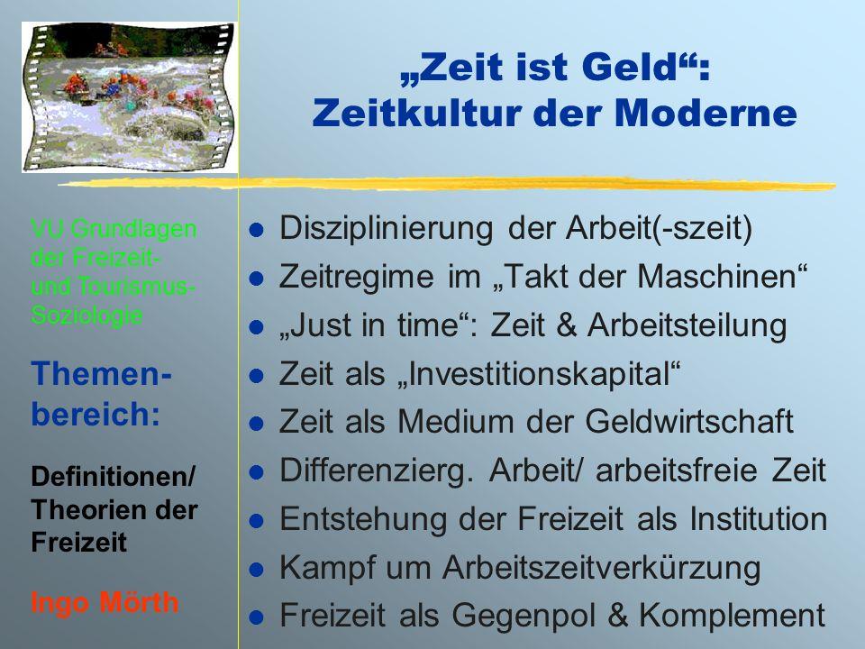 """""""Zeit ist Geld : Zeitkultur der Moderne"""