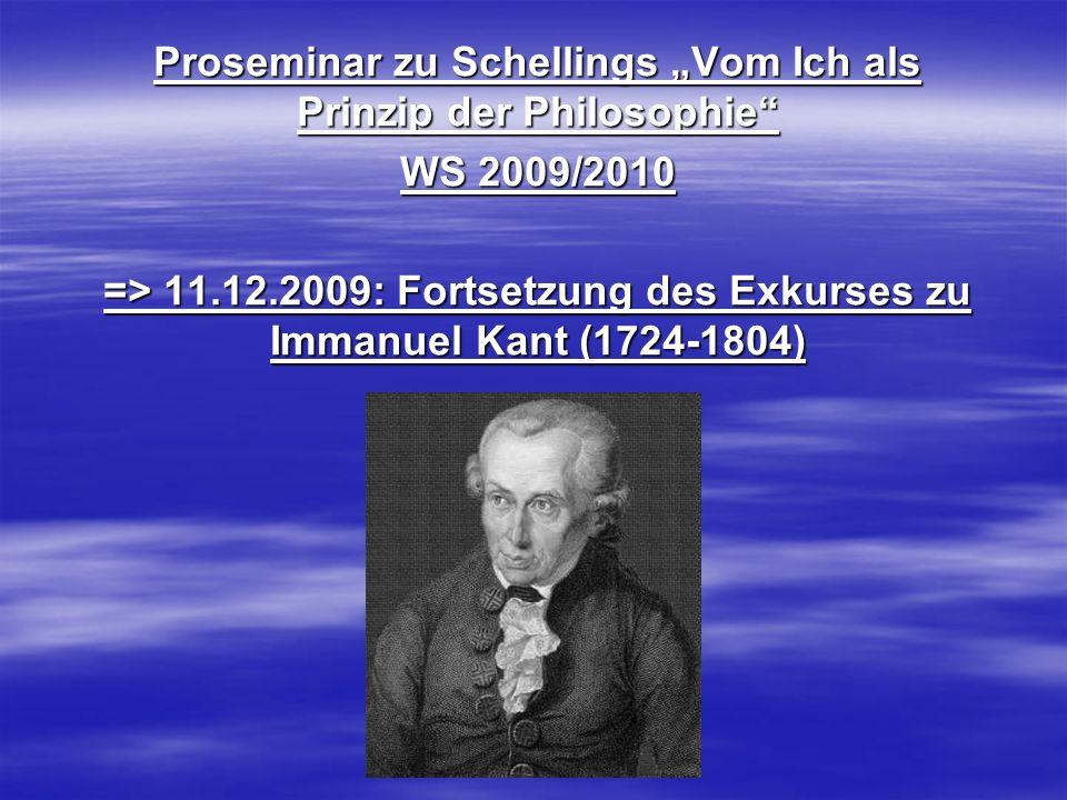 """Proseminar zu Schellings """"Vom Ich als Prinzip der Philosophie"""