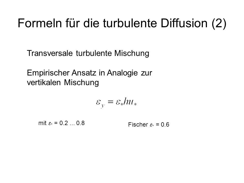 Formeln für die turbulente Diffusion (2)