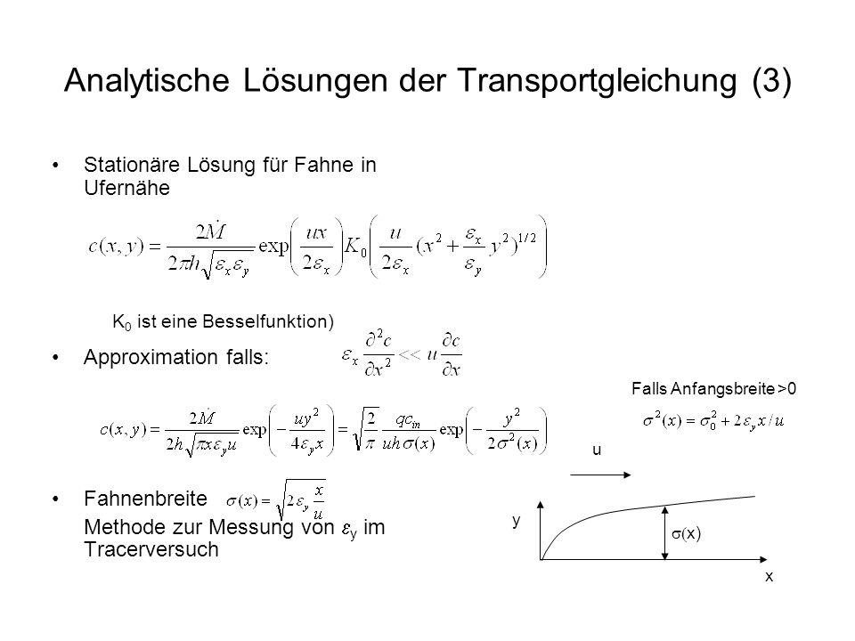 Analytische Lösungen der Transportgleichung (3)