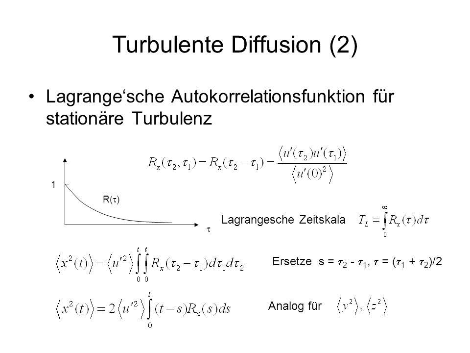 Turbulente Diffusion (2)