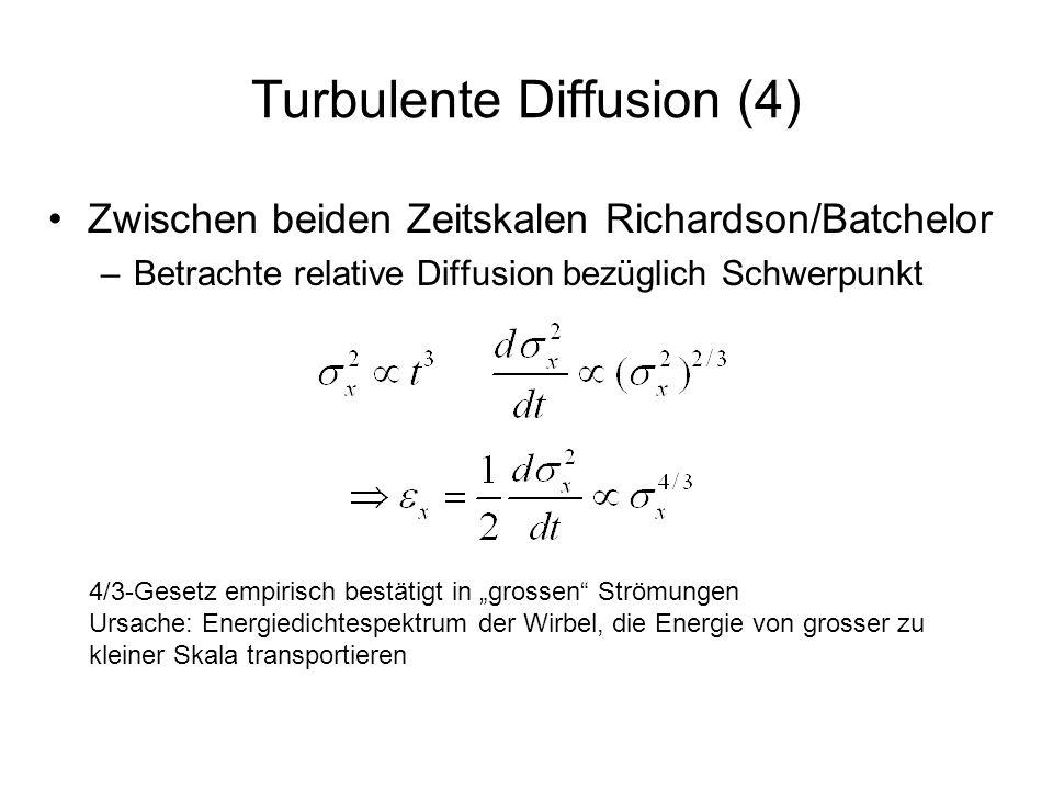 Turbulente Diffusion (4)