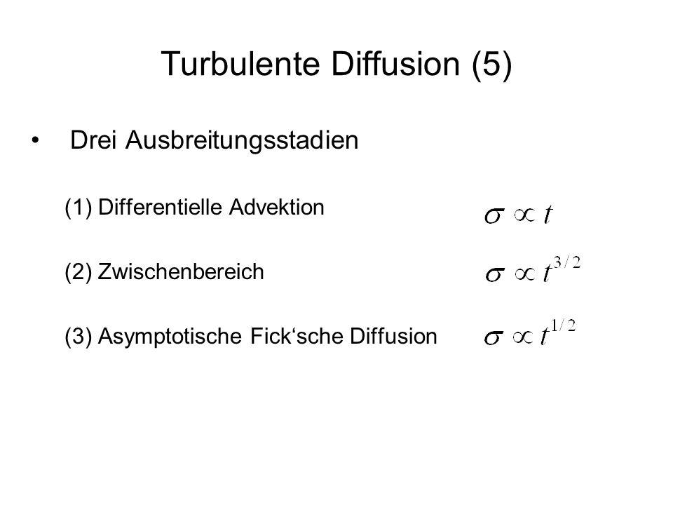 Turbulente Diffusion (5)