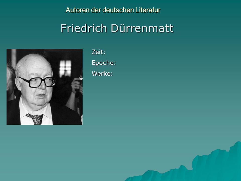 Autoren der deutschen Literatur