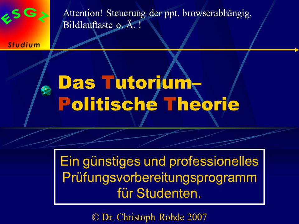 Das Tutorium– Politische Theorie