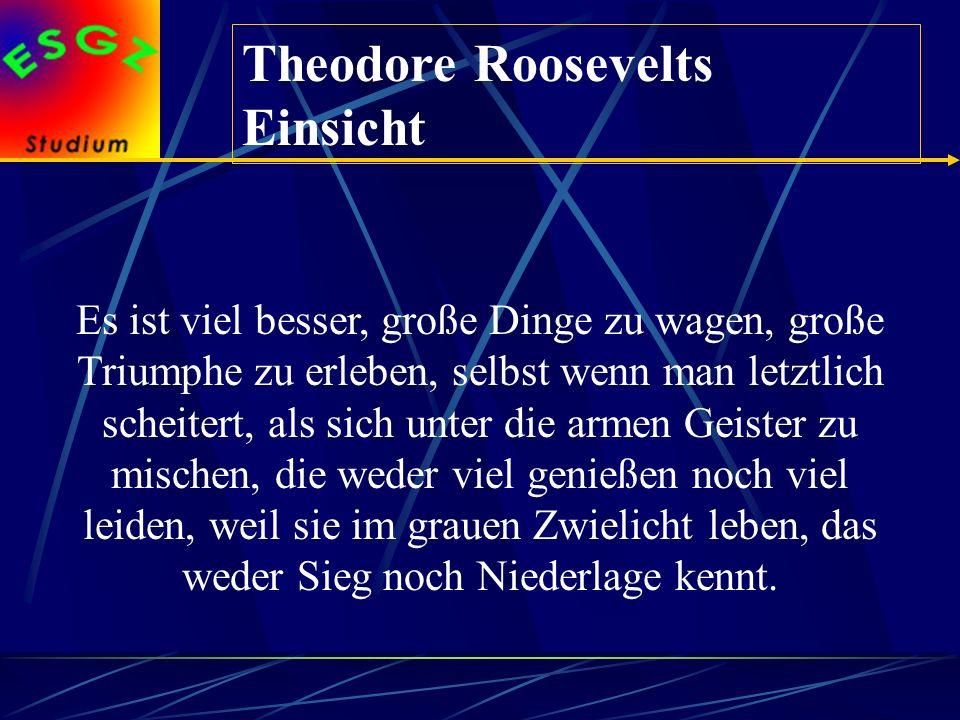 Theodore Roosevelts Einsicht