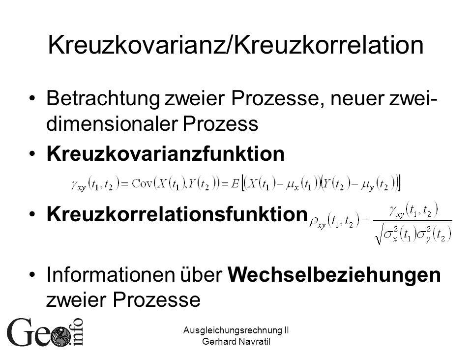 Kreuzkovarianz/Kreuzkorrelation