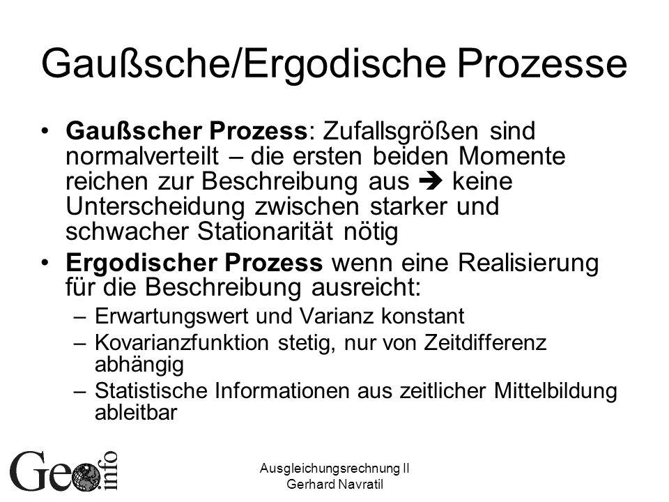 Gaußsche/Ergodische Prozesse
