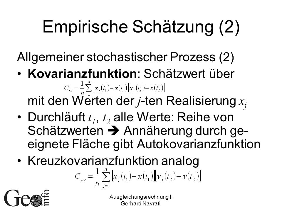 Empirische Schätzung (2)
