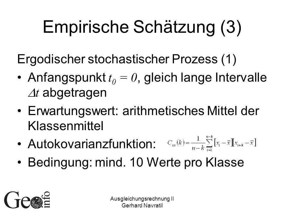 Empirische Schätzung (3)