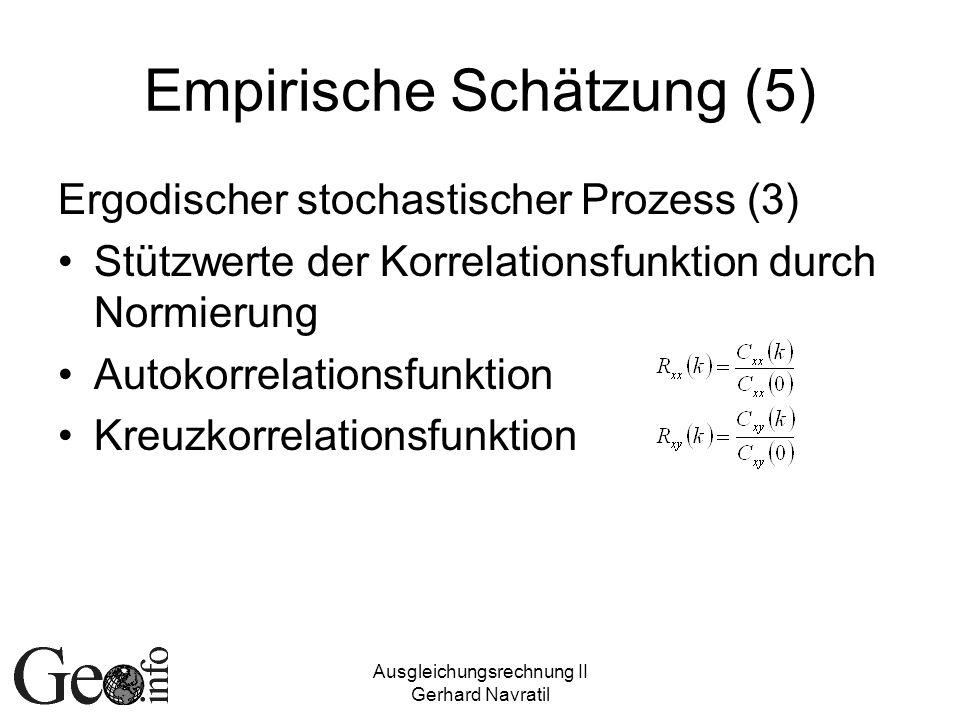 Empirische Schätzung (5)