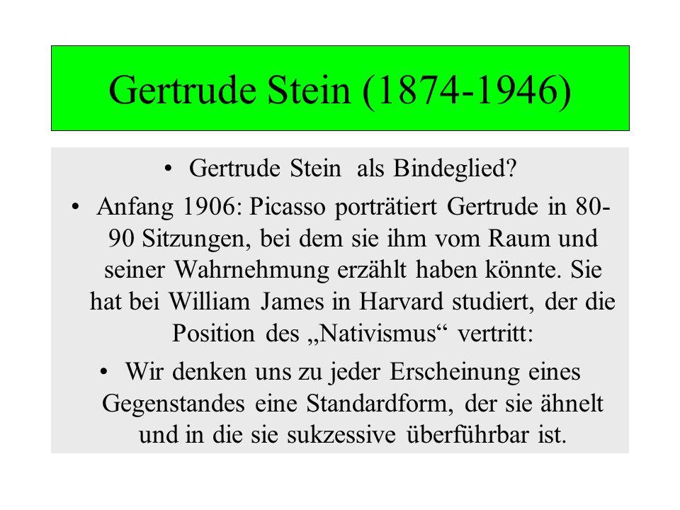 Gertrude Stein als Bindeglied