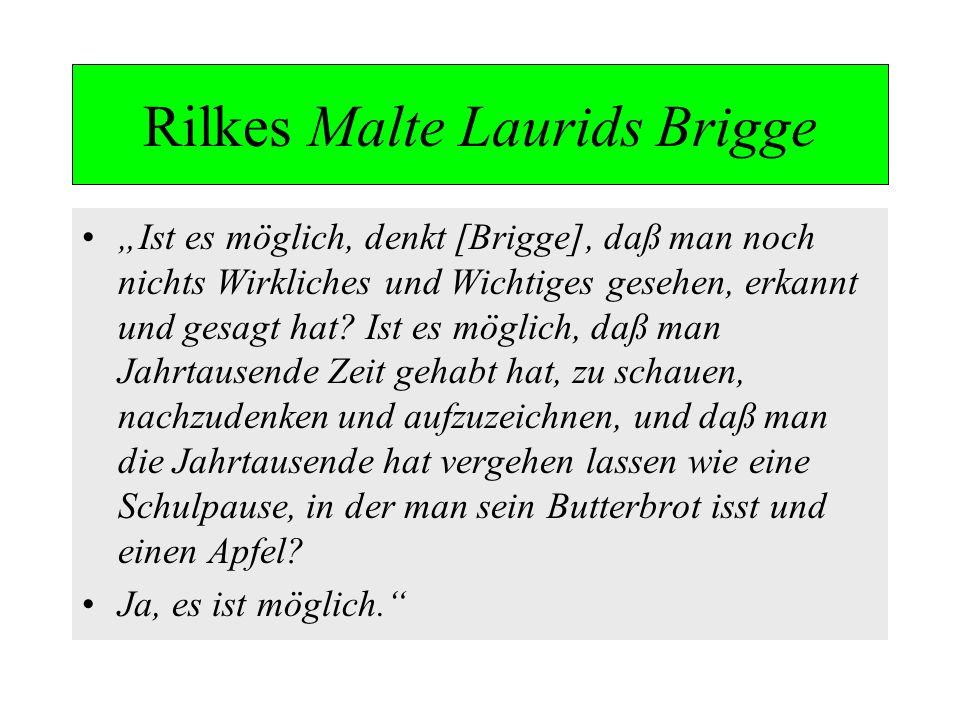 Rilkes Malte Laurids Brigge