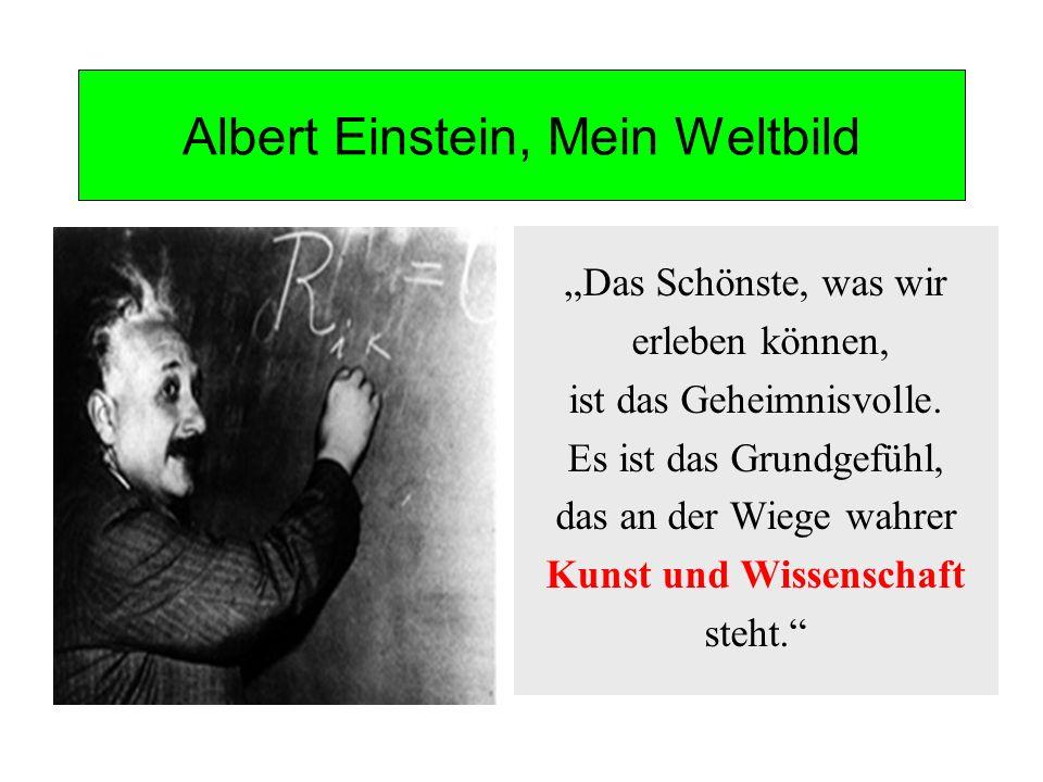 Albert Einstein, Mein Weltbild