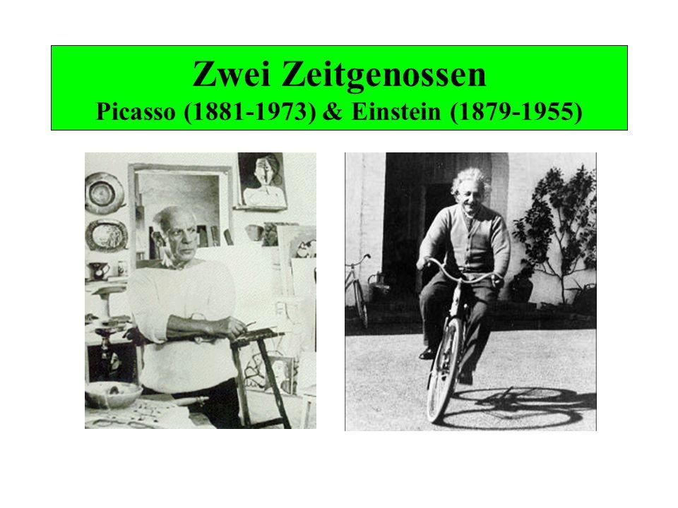 Zwei Zeitgenossen Picasso (1881-1973) & Einstein (1879-1955)