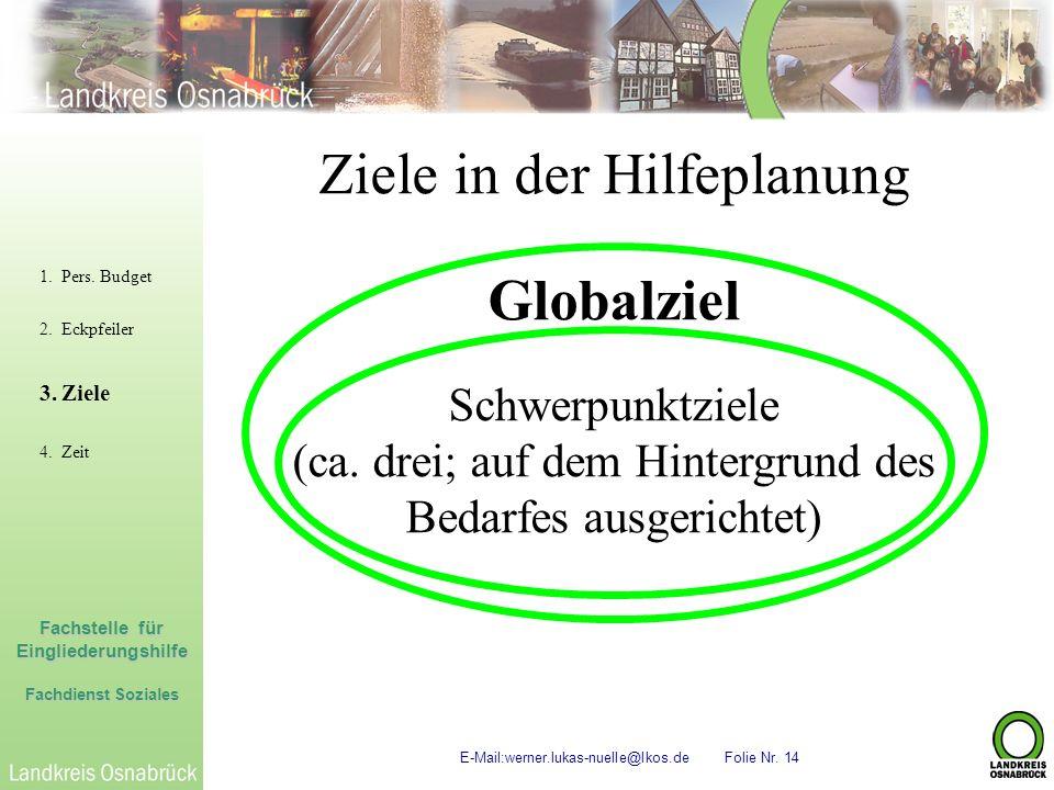 Ziele in der Hilfeplanung Globalziel