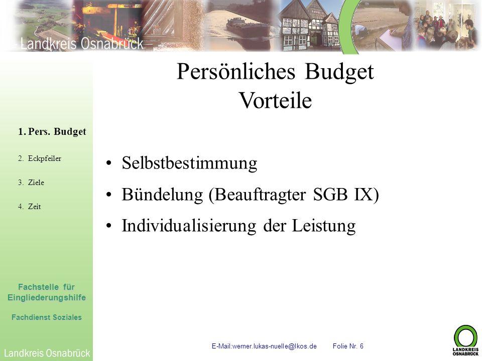 Persönliches Budget Vorteile Selbstbestimmung