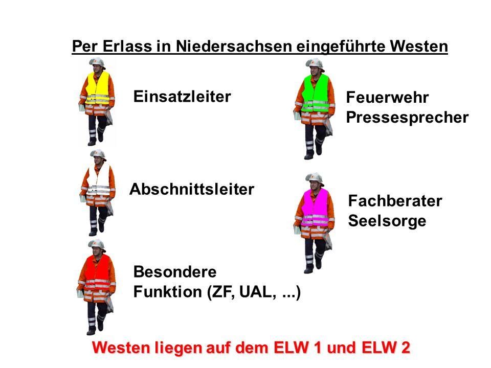 Atemschutz – Konzept Per Erlass in Niedersachsen eingeführte Westen