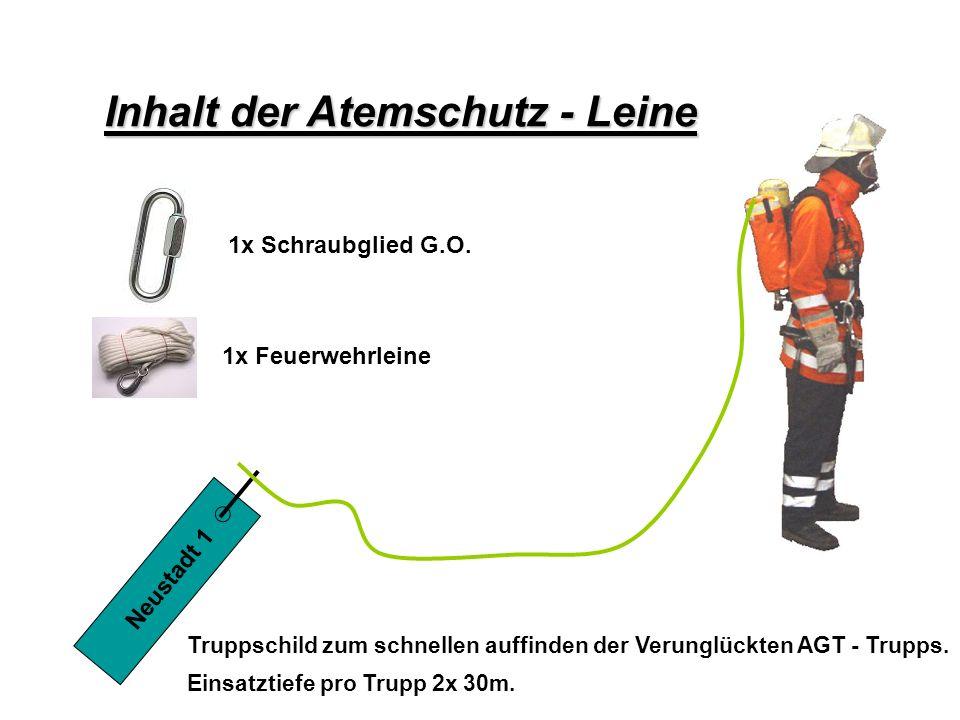 Atemschutz – Konzept Inhalt der Atemschutz - Leine