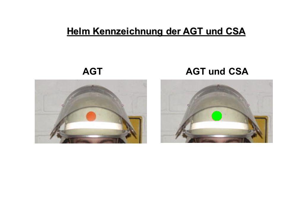 Atemschutz – Konzept Helm Kennzeichnung der AGT und CSA AGT