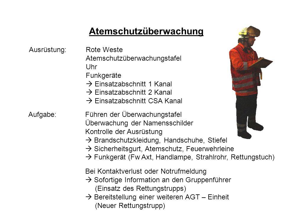 Atemschutz – Konzept Atemschutzüberwachung Ausrüstung: Rote Weste