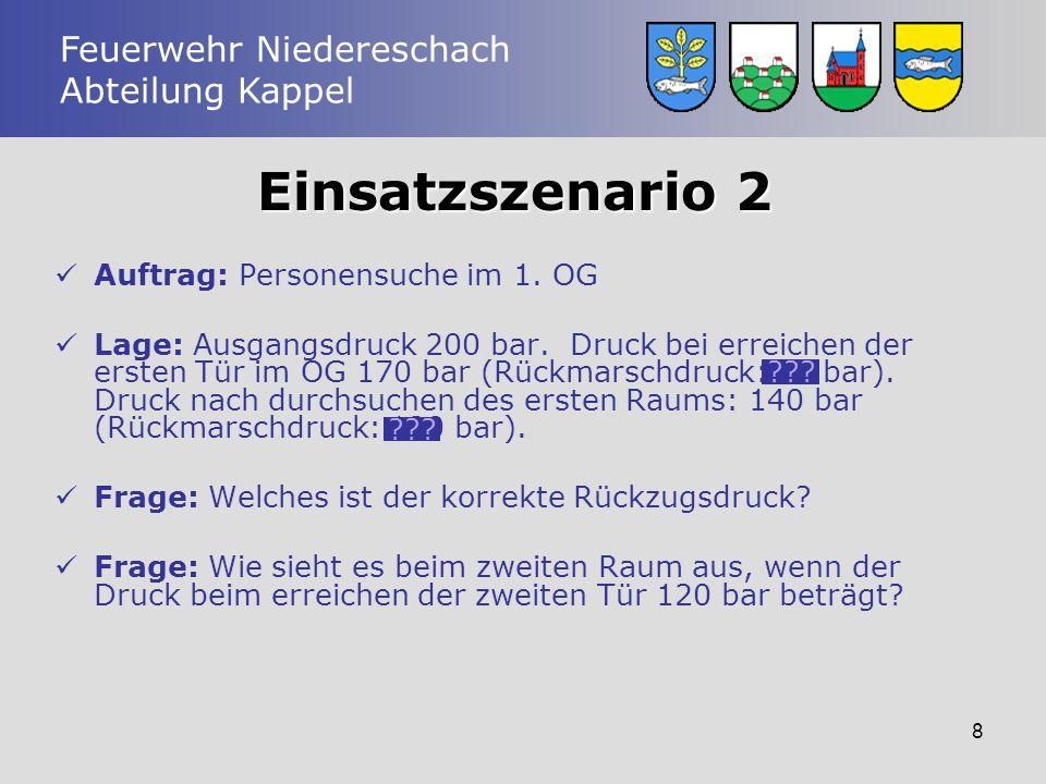 Einsatzszenario 2 Auftrag: Personensuche im 1. OG