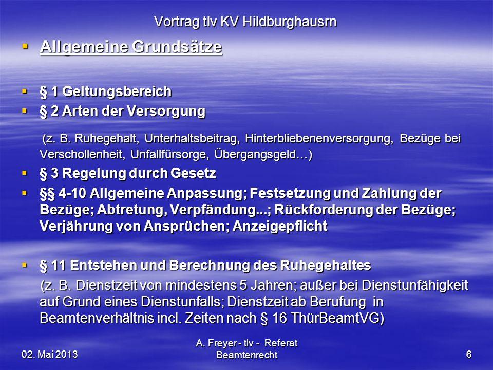Vortrag tlv KV Hildburghausrn
