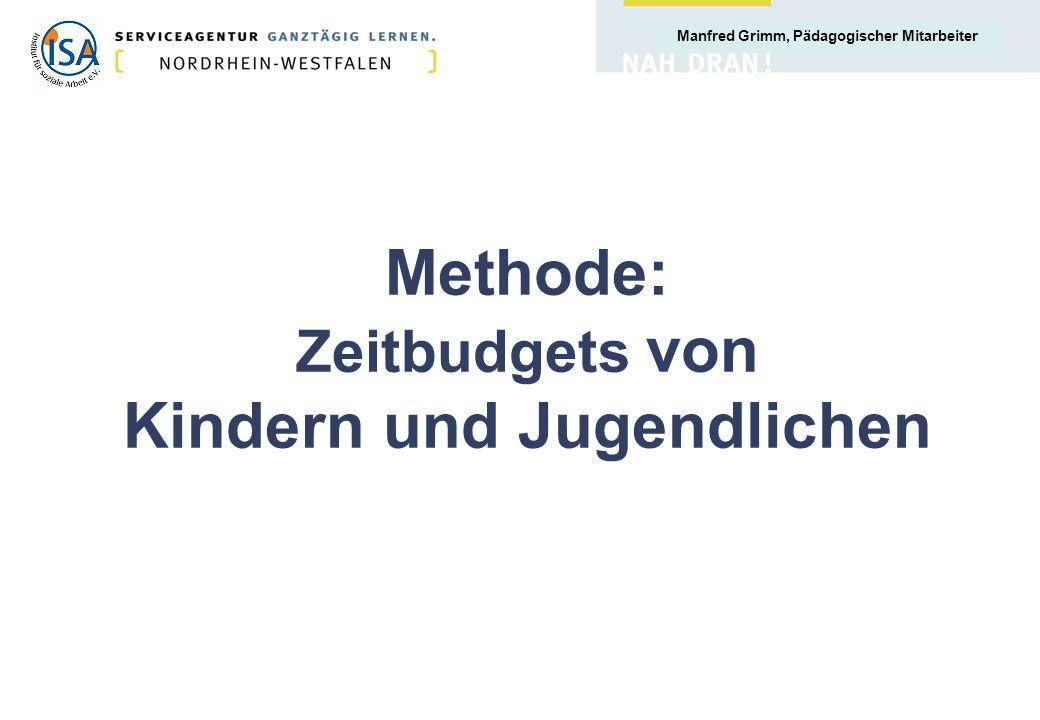 Methode: Zeitbudgets von Kindern und Jugendlichen