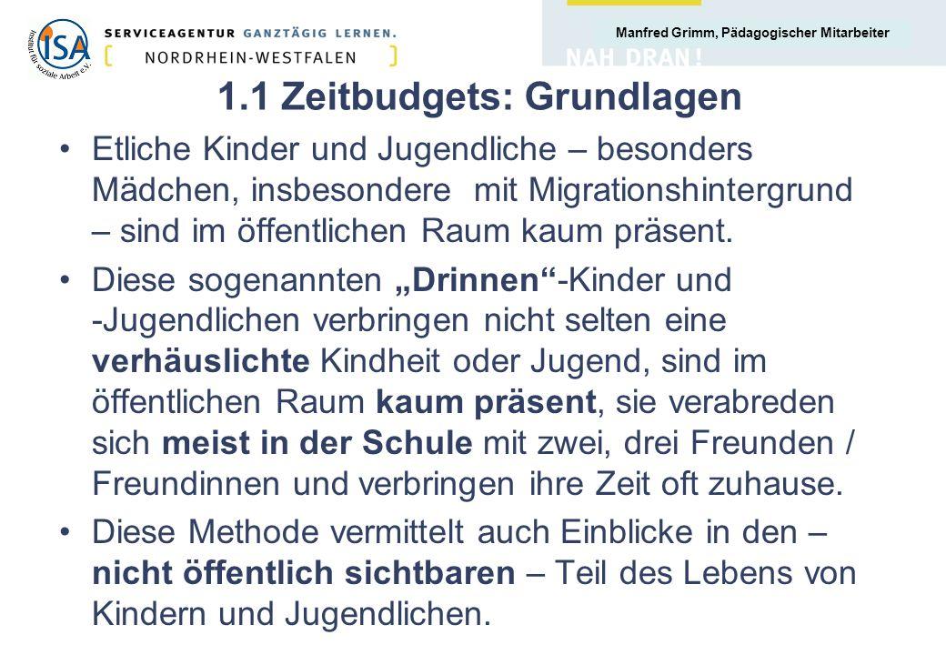 1.1 Zeitbudgets: Grundlagen
