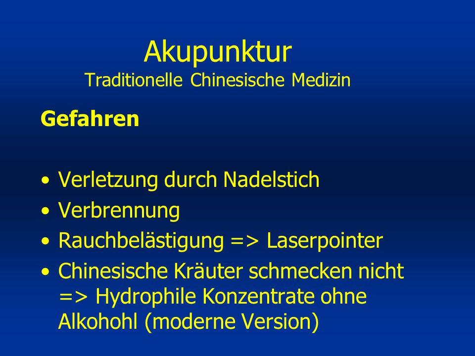 Akupunktur Traditionelle Chinesische Medizin