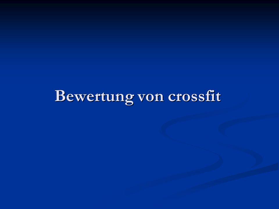 Bewertung von crossfit