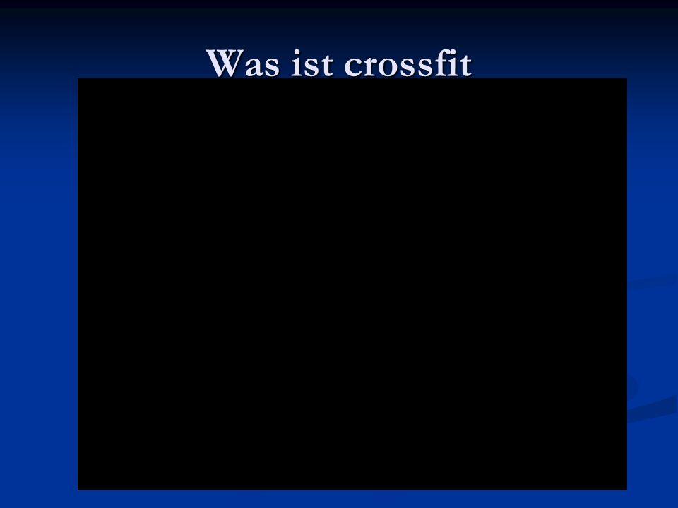 Was ist crossfit
